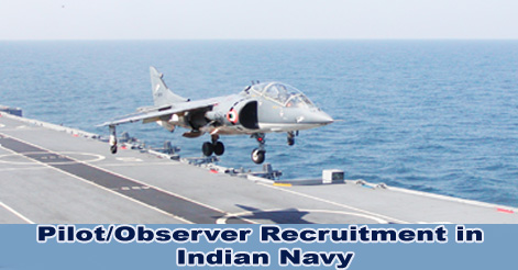 Pilot & Observer Recruitment in Indian Navy