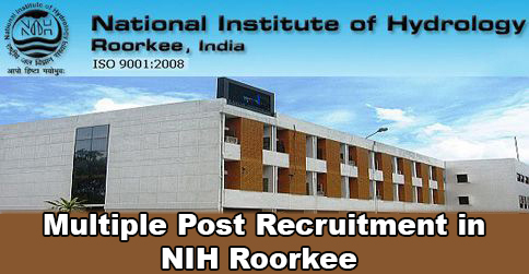 Multiple Post Recruitment in NIH Roorkee