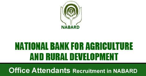 Office Attendants Recruitment in NABARD