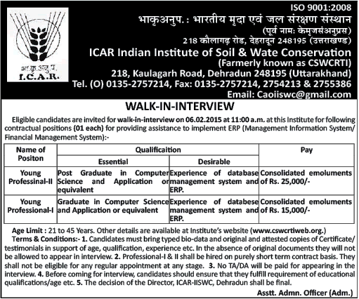 ICAR Dehradun Job