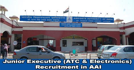 Junior Executive (ATC & Electronics) Recruitment in AAI