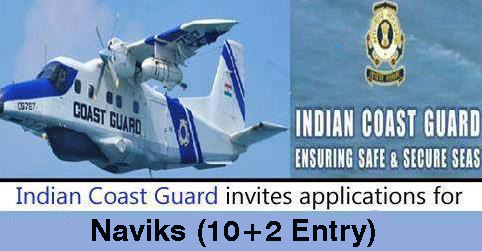 Naviks (10+2 Entry) Recruitment in Indian Coast Guard