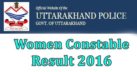 Uttarakhand Police Women Constable Result 2016