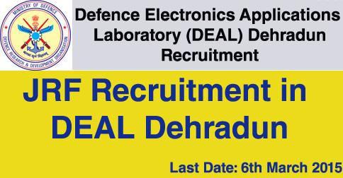 JRF Vacancy in DEAL Dehradun