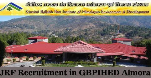 JRF Vacancy in GBPIHED Almora
