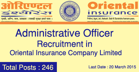 AO Recruitments in Oriental Insurance