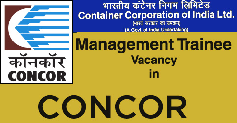 MT Vacancy in CONCOR