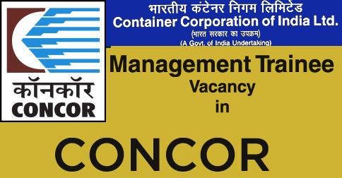 MT Vacancy in CONCOR