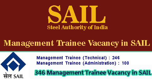 Management Trainee Vacancy in SAIL