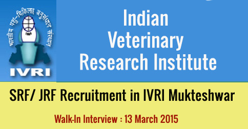 SRF JRF Recruitment in IVRI Mukteshwar