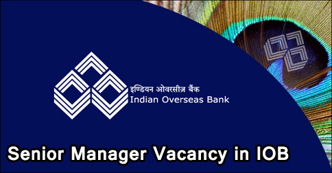 Senior Manager Recruitment in Indian Overseas Bank