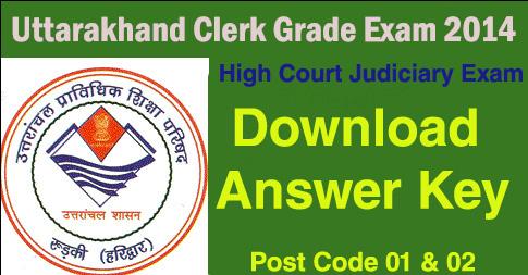 Download Uttarakhand Clerk Exam Answer Key