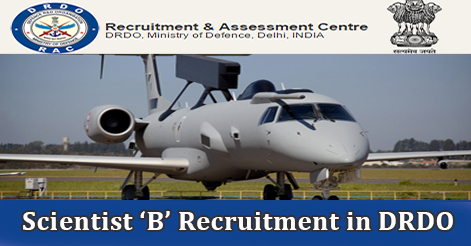 Scientist 'B' Recruitment in DRDO