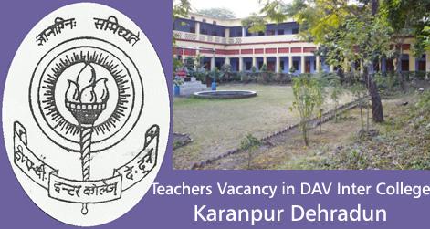 Teachers Vacancy in DAV Karanpur Dehradun