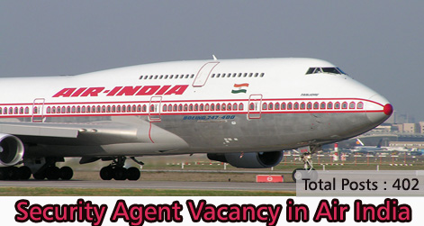 Security Agent Vacancy in Air India
