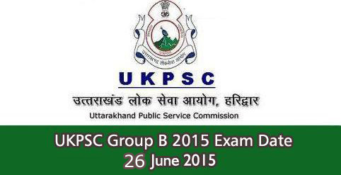 UKPSC Group B Exam Date