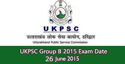 UKPSC Group B Exam Date