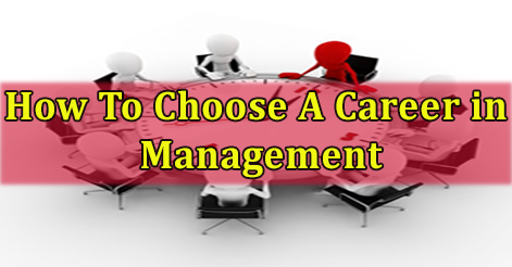 How To Choose A Career in Management