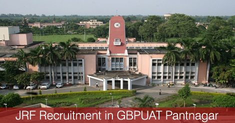 JRF Recruitment in GBPUAT Pantnagar