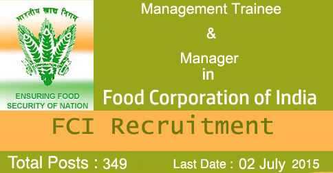 Management Trainee Recruitment FCI