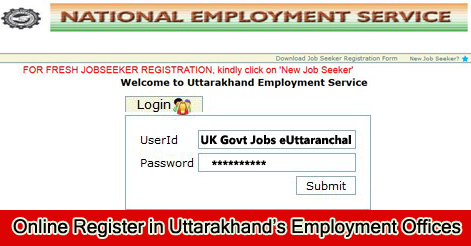 Online Register in Uttarakhand Employment Offices