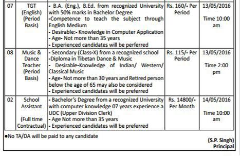 Teachers & Librarian Recruitment in Central School For Tibetans3