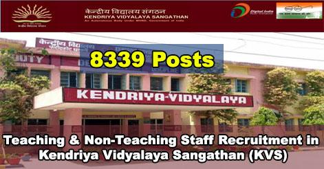 Teaching & Non-Teaching Staff Recruitment in KVS