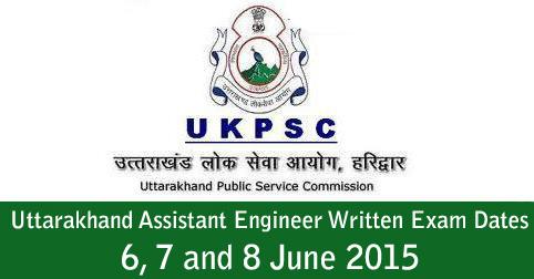 Uttarakhand Assistant Engineer Written Exam Dates