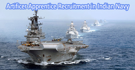 Artificer Apprentice Recruitment in Indian Navy