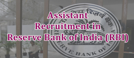 Assistant Recruitment in Reserve Bank of India (RBI)