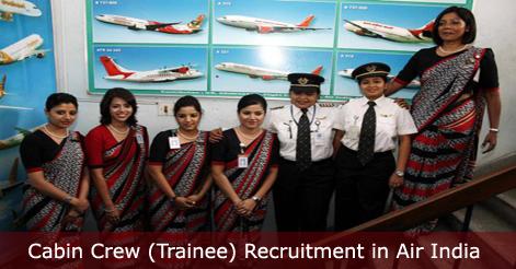 Cabin Crew (Trainee) Recruitment in Air India