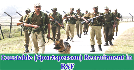 Constable (Sportsperson) Recruitment in BSF