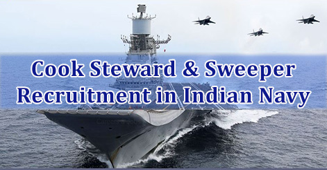 Cook Steward & Sweeper Recruitment in Indian Navy