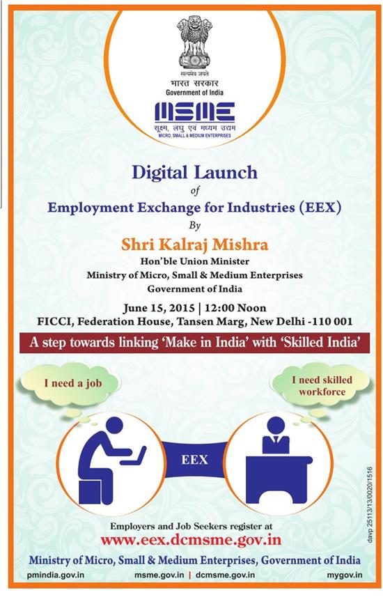 Govt launches Job Portal for MSME
