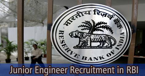 Junior Engineer Recruitment in RBI