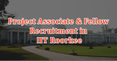 Project Associate & Fellow Recruitment in IIT Roorkee