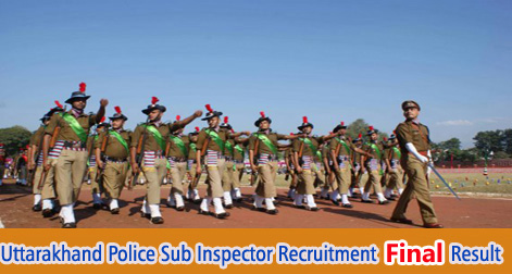 Uttarakhand Police Sub Inspector Final Result After Medical