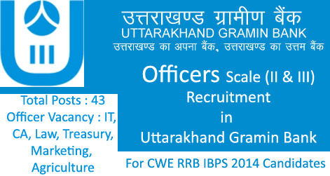 Officers Recruitment in Uttarakhand Gramin Bank