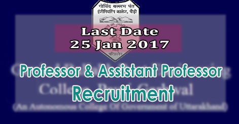 Professor & Associate Professor Recruitment in GBPEC Pauri