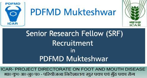 SRF Recruitment in PDFMD Mukteshwar
