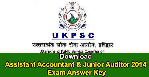 Download Assistant Accountant & Junior Auditor 2014 Exam Answer Key