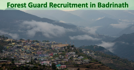 Forest Guard Recruitment in Badrinath