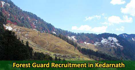 Forest Guard Recruitment in Kedarnath
