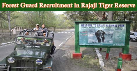 Forest Guard Recruitment in Rajaji Tiger Reserve