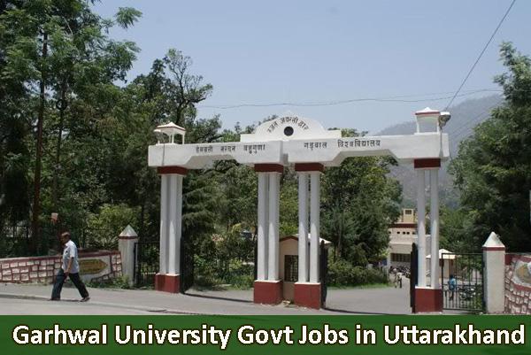 Govt Jobs in HNBGU Garhwal University