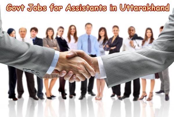 Sarkari Naukri for Assistants in Uttarakhand - Assistants Govt Jobs in Uttarakhand