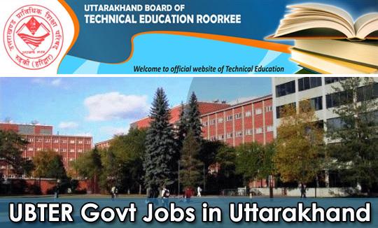 Govt Jobs by UBTER in Uttarakhand