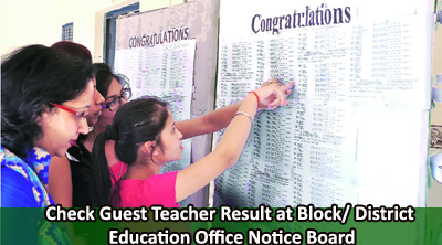 Uttarakhand Guest Teacher Result