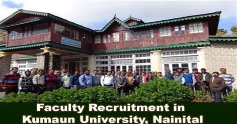 Faculty Recruitment in Kumaun University, Nainital