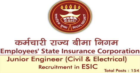 Junior Engineer Recruitment in ESIC